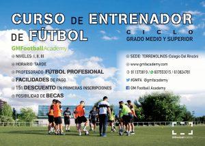 Cartel de los cursos en Málaga