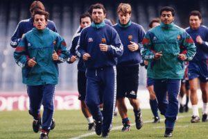 Quique Estebaranz en su etapa en el Barcelona